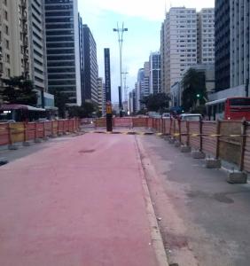 Futura ciclovia da av Paulista